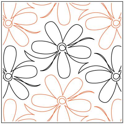 Cherry-Blooms-quilting-pantograph-sewing-pattern-sarah-ann-myers