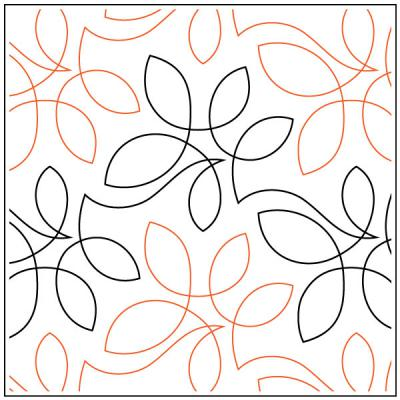 Netting #1 quilting pantograph pattern by Sarah Ann Myers