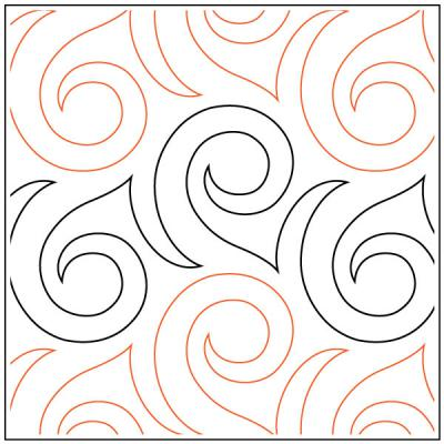 INVENTORY REDUCTION...Posh quilting pantograph pattern by Sarah Ann Myers