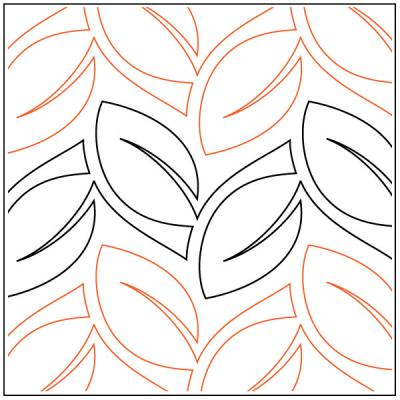 Seedling quilting pantograph pattern by Sarah Ann Myers