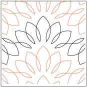 Maui quilting pantograph pattern by Sarah Ann Myers