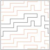 Tetra quilting pantograph pattern by Sarah Ann Myers