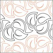 Cluster of Leaves quilting pantograph pattern by Sarah Ann Myers