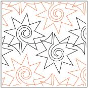 Dynamite quilting pantograph pattern by Sarah Ann Myers