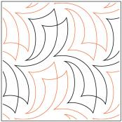 Sail On quilting pantograph pattern by Sarah Ann Myers