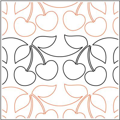 INVENTORY REDUCTION...Cherry Pie quilting pantograph pattern by Sarah Ann Myers