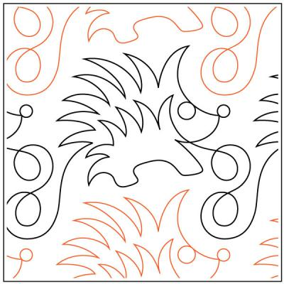 Dill Prickles quilting pantograph pattern by Sarah Ann Myers