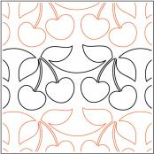 Cherry Pie quilting pantograph pattern by Sarah Ann Myers
