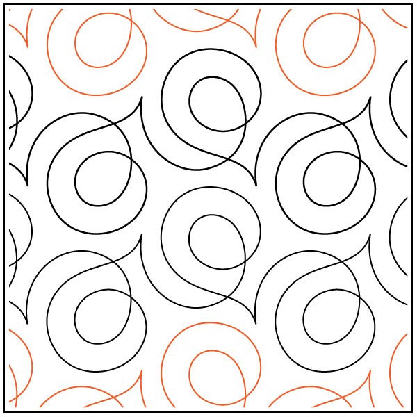 Soho Quilting Pantograph Pattern By Sarah Ann Myers