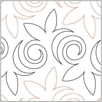 Asian Maple quilting pantograph pattern by Sarah Ann Myers