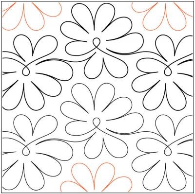 Lilac quilting pantograph pattern by Sarah Ann Myers