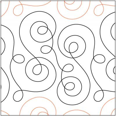 Loose Thread quilting pantograph pattern by Sarah Ann Myers