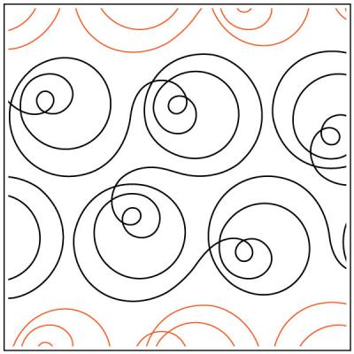 Orbit Around the Sun quilting pantograph pattern by Patricia Ritter & Sarah Ann Myers