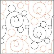 Crazy Eights quilting pantograph pattern by Sarah Ann Myers