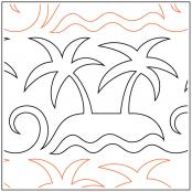 INVENTORY REDUCTION...Key West quilting pantograph sewing pattern by Sarah Ann Myers