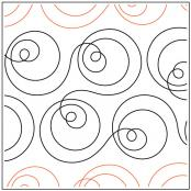 INVENTORY REDUCTION...Orbit Around the Sun quilting pantograph pattern by Patricia Ritter & Sarah Ann Myers