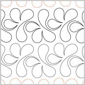 Splish Splash quilting pantograph pattern by Sarah Ann Myers