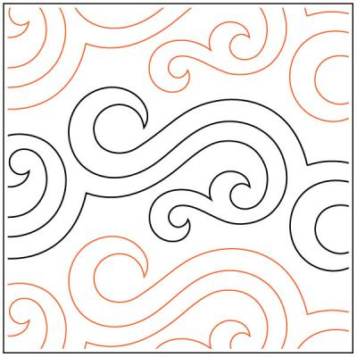 Licorice quilting pantograph pattern by Patricia Ritter and Tracey Russell