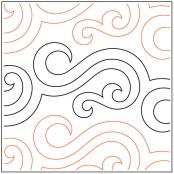 INVENTORY REDUCTION...Licorice quilting pantograph pattern by Patricia Ritter and Tracey Russell
