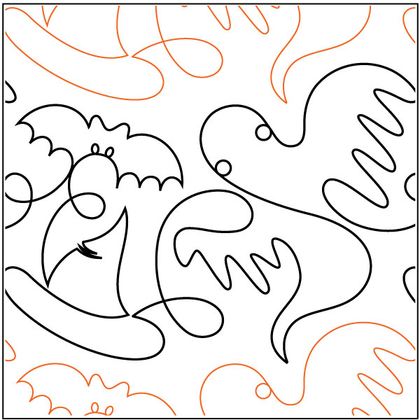 Fright-Nite-quilting-pantograph-sewing-pattern-Lisa-Calle