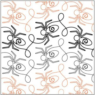 continLineQuiltingPatterns/Melonie_J_Caldwell/Along-Came-A-Spider-Border-quilting-pantograph-Patricia-Ritter-Melonie-J-Caldwell.jpg