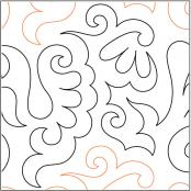 Feathered-Fun-quilting-pantograph-sewing-pattern-Lisa-Calle