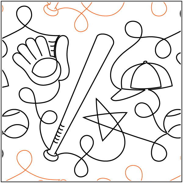 Batter-Up-quilting-pantograph-pattern-Patricia-Ritter-Urban-Elementz