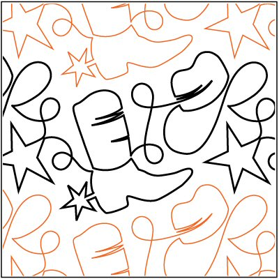Yippee ki yay pantograph pattern by patricia ritter of urban elementz for Free pantographs