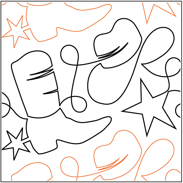 Yippee-Kay-Yay-quilting-pantograph-pattern-Patricia-Ritter-Urban-Elementz