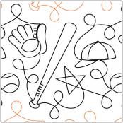 Batter Up pantograph pattern by Patricia Ritter of Urban Elementz