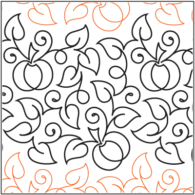 Butterfly Meandering e2e is a digital pattern designed for longarm