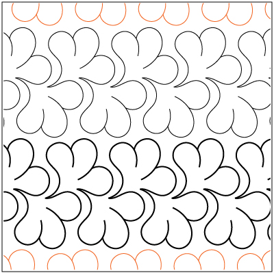Quilting Designs For Borders : Mountain Laurel Border pantograph pattern by Patricia Ritter of Urban Elementz