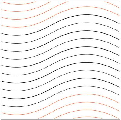 Good Vibrations #1 quilting pantograph pattern by Patricia Ritter of Urban Elementz