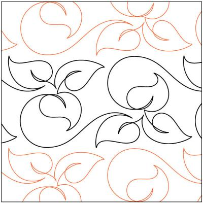 Loose Leaf quilting pantograph pattern by Patricia Ritter of Urban Elementz