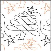 Christmas-Doodle-Trees-quilting-pantograph-pattern-Patricia-Ritter-Urban-Elementz