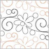 Daisy Doodle Petite quilting pantograph pattern by Patricia Ritter of Urban Elementz