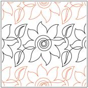 CLOSEOUT...Dizzy Sunflower quilting pantograph pattern by Ashley Schick