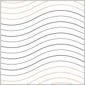 INVENTORY REDUCTION...Good Vibrations #1 quilting pantograph pattern by Patricia Ritter of Urban Elementz