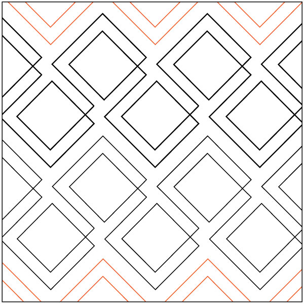Inventory Reduction Diagonal Plaid Quilting Pantograph