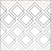 Diagonal Plaid quilting pantograph pattern by Patricia Ritter of Urban Elementz