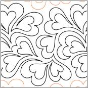 Whole Lotta Love pantograph pattern by Patricia Ritter of Urban Elementz