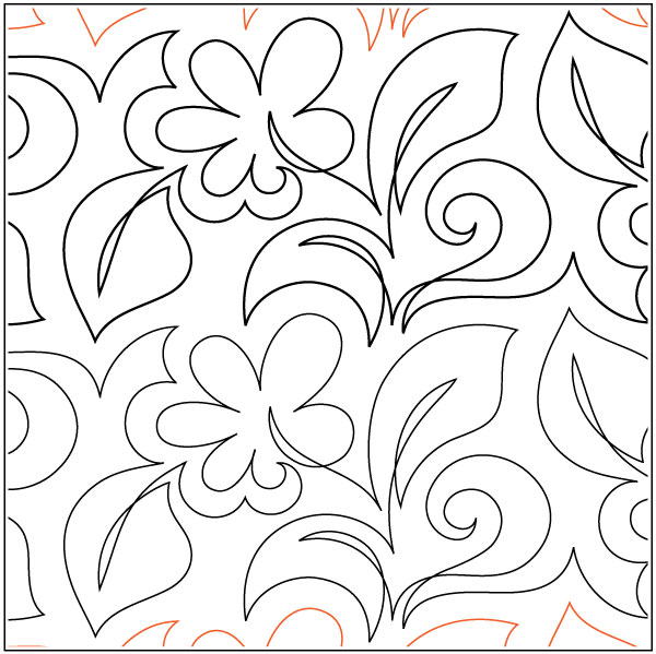 Gerber-Daisy-quilting-pantograph-pattern-Patricia-Ritter-Urban-Elementz