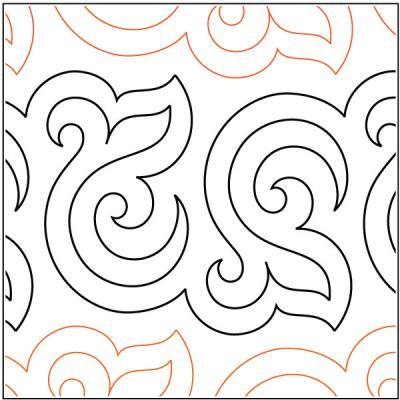 Bourbon-Street-Baby-quilting-pantograph-pattern-Patricia-Ritter-Urban-Elementz