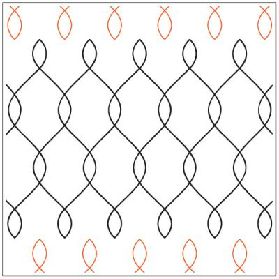 INVENTORY REDUCTION...Chicken Wire quilting pantograph pattern by Patricia Ritter of Urban Elementz