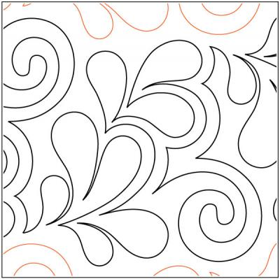 Citrine quilting pantograph pattern by Patricia Ritter