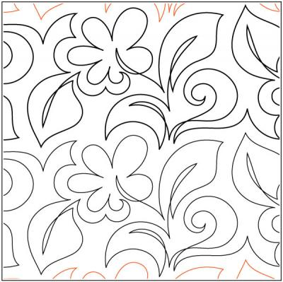 Gerber Daisy quilting pantograph pattern by Patricia Ritter of Urban Elementz