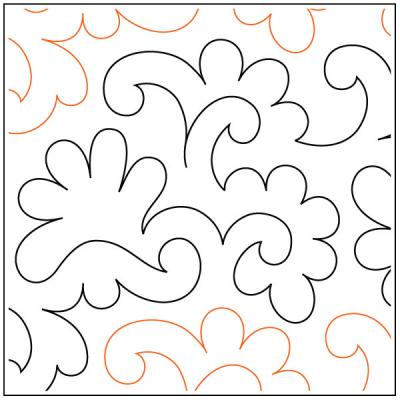Snapdragons pantograph pattern by Patricia Ritter of Urban Elementz