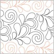 Citrine quilting pantograph pattern by Patricia Ritter 2