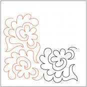 Flowers-and-Fronds-Corner-quilting-pantograph-pattern-Patricia-Ritter-Urban-Elementz-1