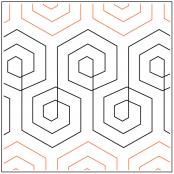 Hex-Marks-The-Spot-quilting-pantograph-pattern-Patricia-Ritter-Urban-Elementz